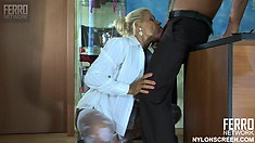 Delicate floozy Hannah gets even hungrier after Benjamin M's fucked her hard